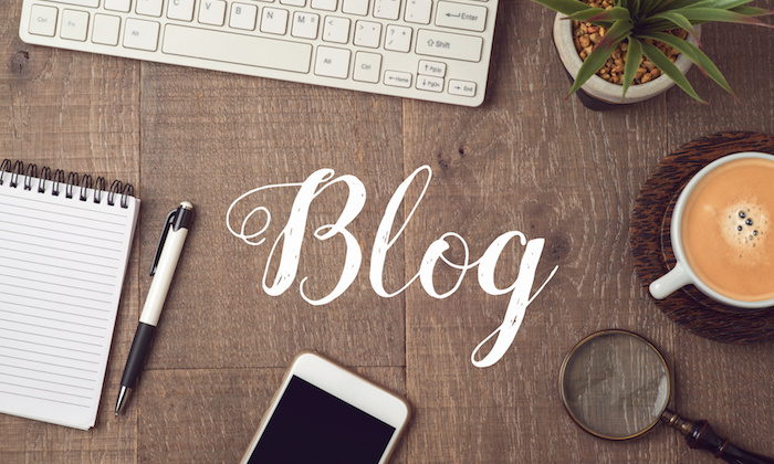 Blog and information website concept.